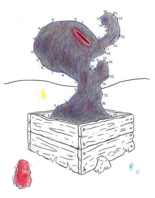 The Pain Box, Ink and Colored Pencil, 2016
