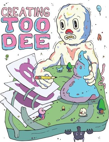 Creating Too Dee, 24 Page Artist Book, Digital Print, 2017